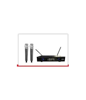 Microfono inalambrico doble de mano UHF NADY-202