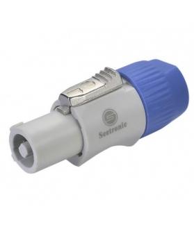 Conector Powercon a cable c/ traba SAC3FCB (BLANCA)