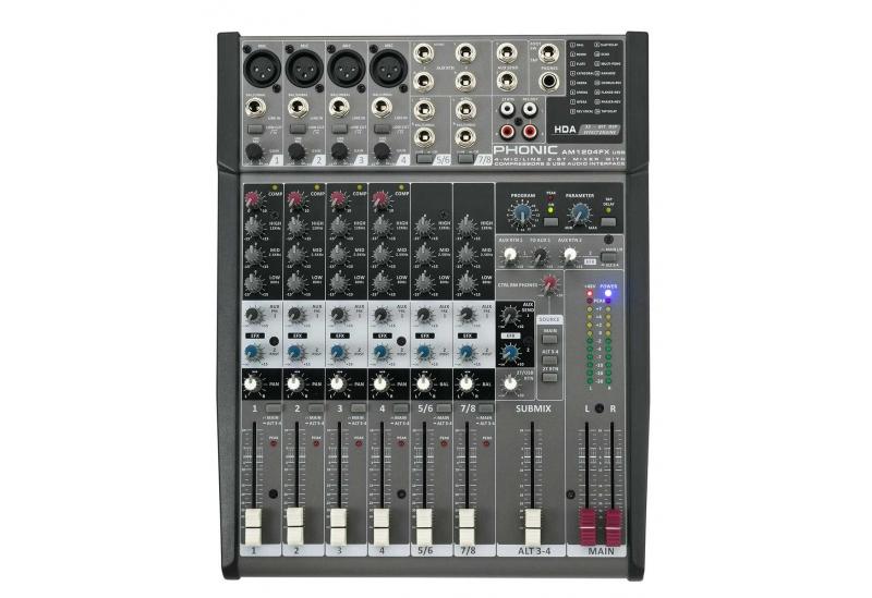 Consola de sonido Phonic AM1204FX USB