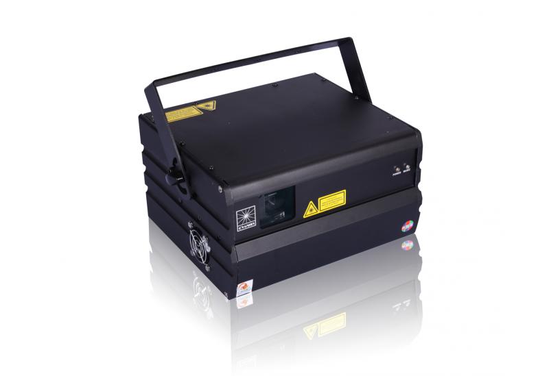 Proyector Láser Profesional de 7 colores de alta potencia y gran intensidad.