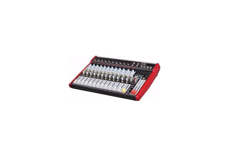 Consola de sonido E-LIGHTING 12 canales con FX