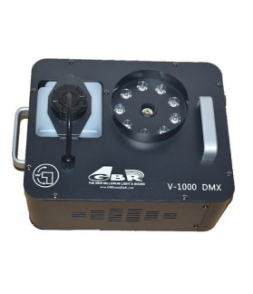 Maquina de humo GBR V1000 DMX con 10 LED de 3 W
