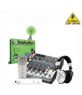Controlador Behringer para grabacion por computadora Podcastudio Firewire