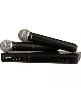 Micrófono inalámbrico doble Shure UHF BLX288AR/PG58M5