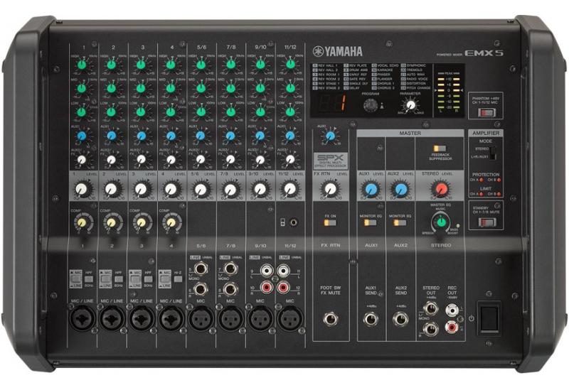 Consola de sonido potenciada Yamaha EMX5
