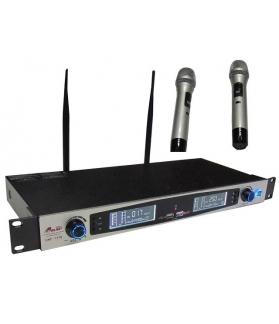 Micrófono inalámbrico doble de mano GBR UHF-1710