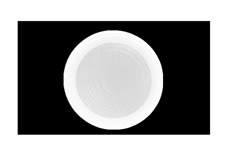 Parlante de cielo raso para música funcional Tecshow DOME 6.5 DUAL CONE