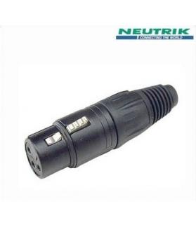 Conector Neutrik XLR a cable NC 3 FX-B