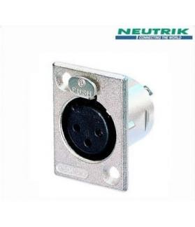 Conector Neutrik XLR a chasis NC 3 FP-1